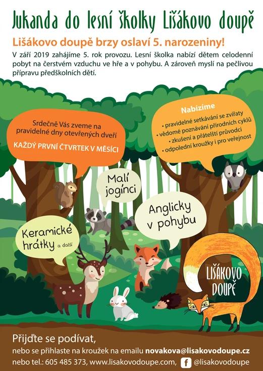 Jukanda do lesní školky Lišákovo doupě